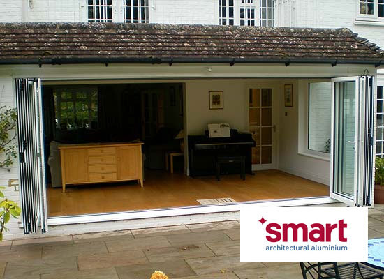 Aluminium bi folding doors from shaws