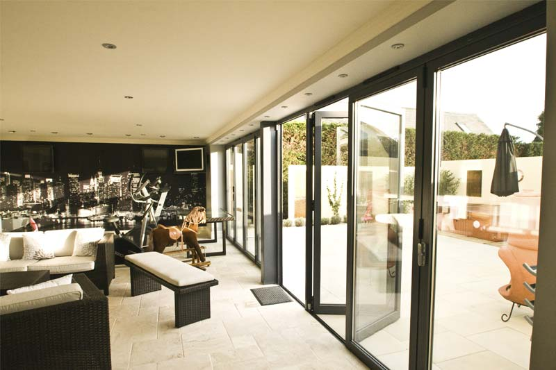 Aluminium bi folds shaws of brighton