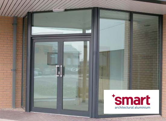 Aluminium commercial doors shaws