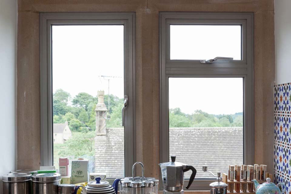 Aluminium windows for domestic use