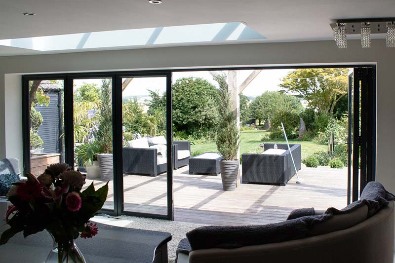 Bi folding aluminium doors brighton