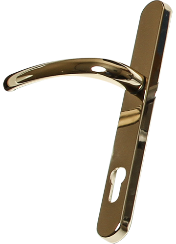 Hardex gold traditional door handle from shaws