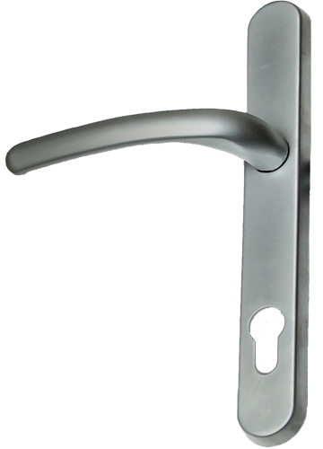 Hardex graphite traditional door handle from shaws