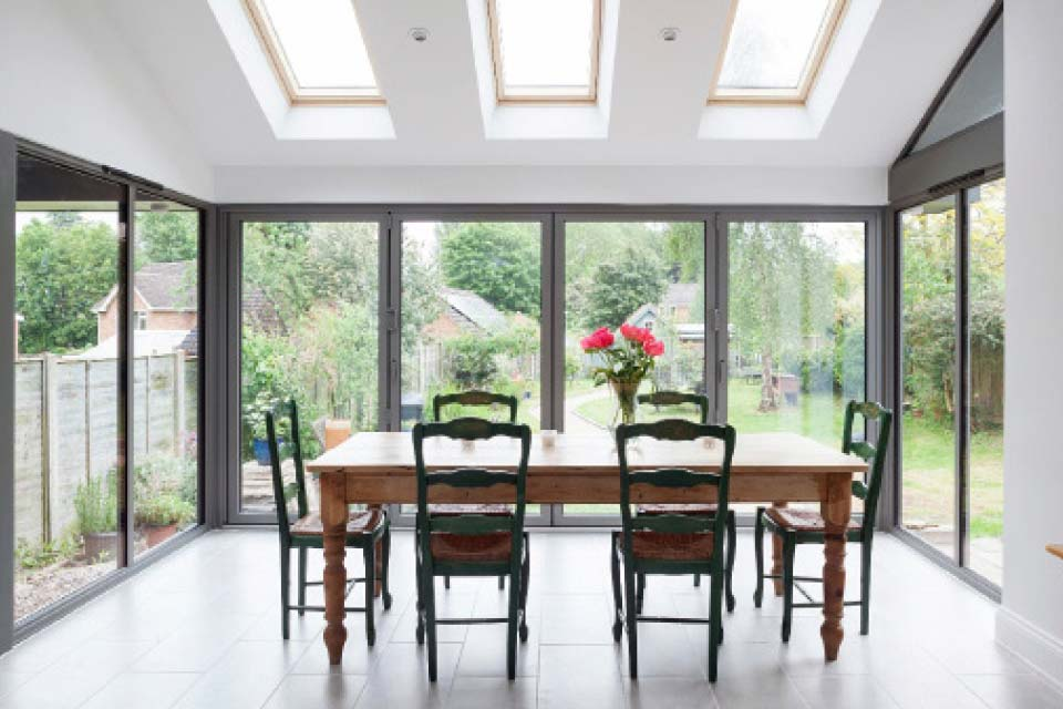 High performance bi folding doors