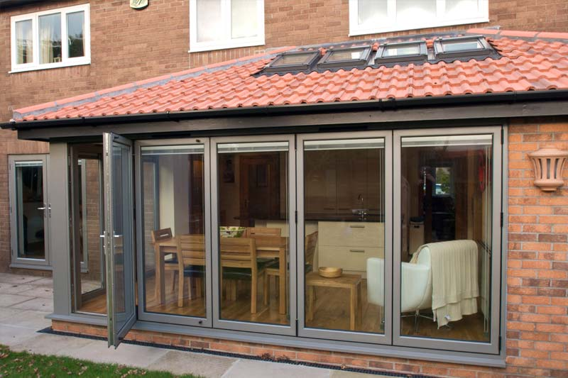 Shaws aluminium bi folding doors brighton