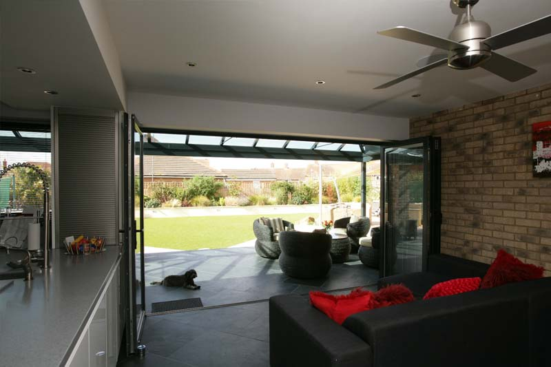 Shaws aluminium bi folds brighton