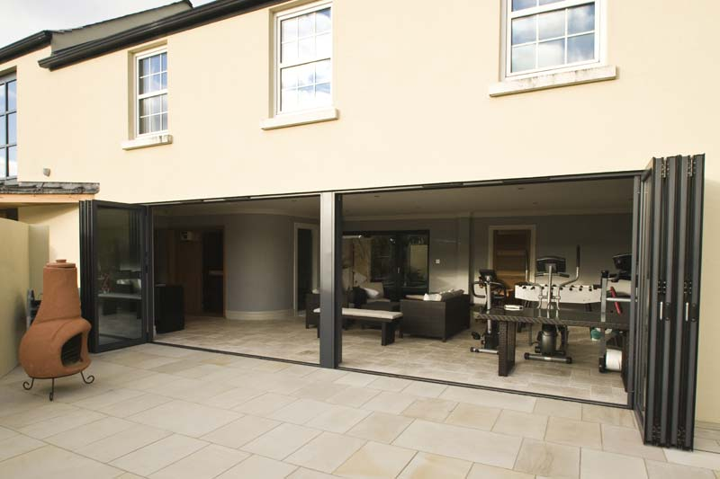 Shaws bi folding aluminium doors brighton
