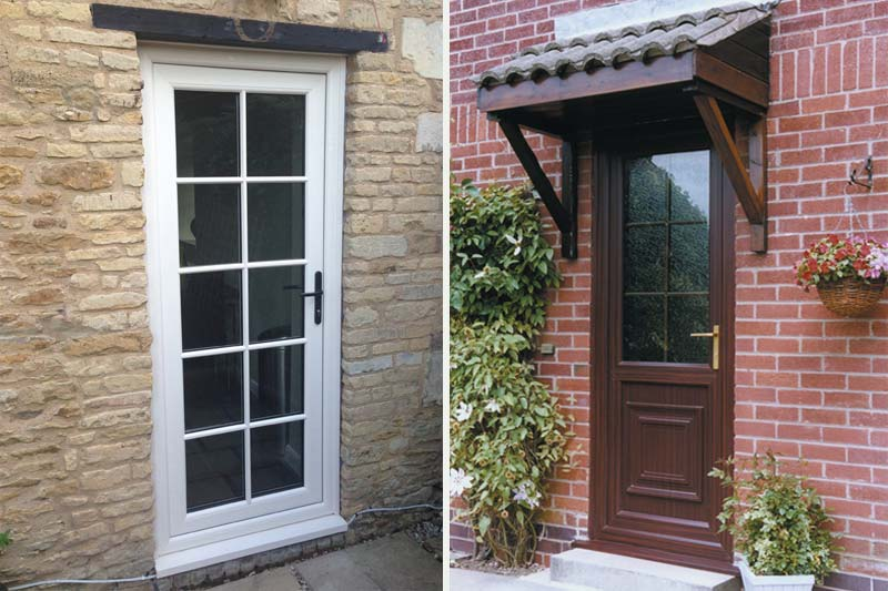 Shaws of brighton upvc single front back doors