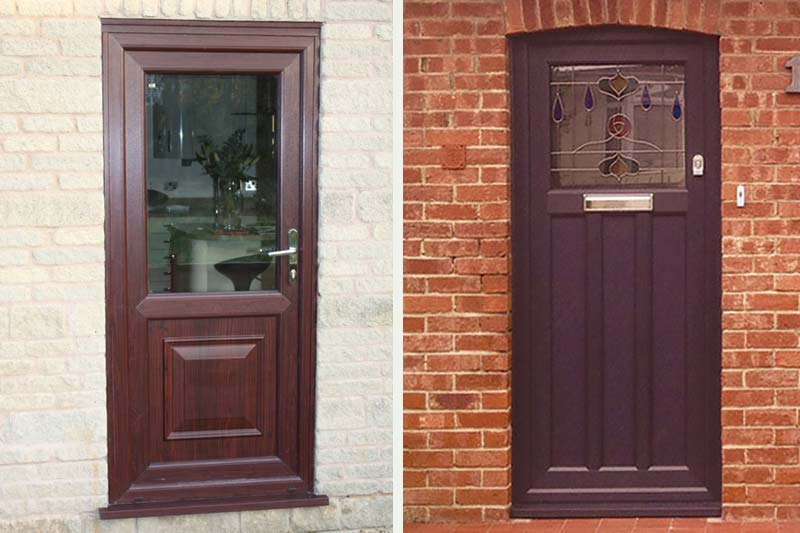 Shaws single front back doors upvc
