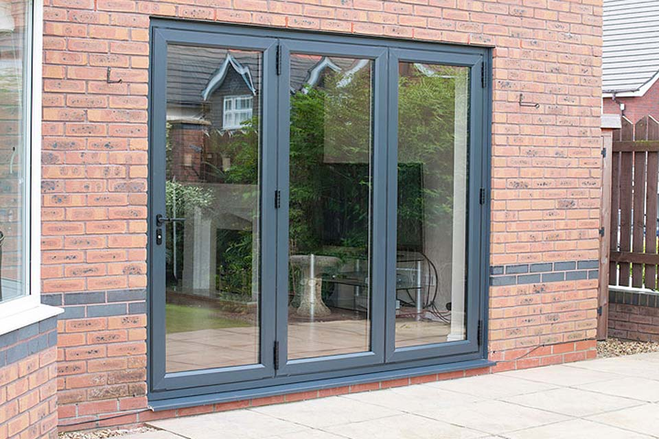 Shaws upvc bi folding doors