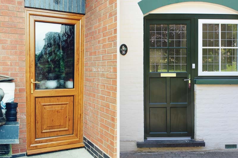 Single front back doors timber alternative brighton