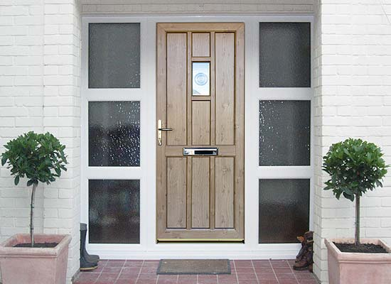 Timber alternative single front back doors shaws title=