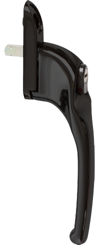 Traditional black cranked handle from shaws