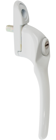 Traditional white cranked handle from shaws