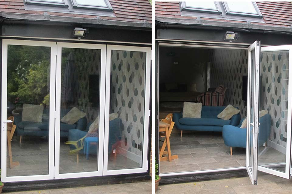 Upvc bi folding doors brighton