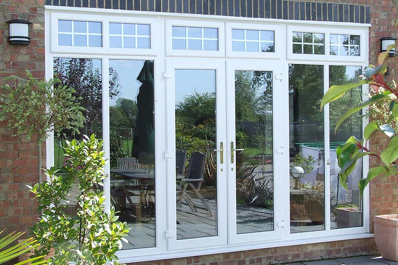 Upvc french doors upvc doors shaws of brighton for Double glazed upvc patio doors