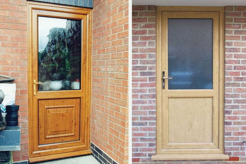 Upvc single front back doors brighton