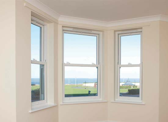 Vertical sliding windows upvc shaws