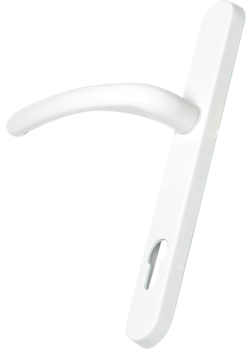 White traditional door handle from shaws