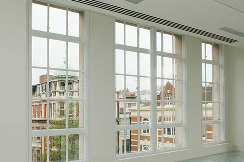 Vertical sliding secondary glazing shaws of brighton
