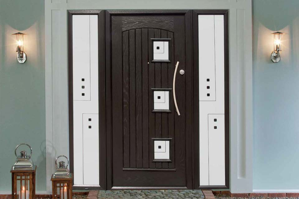 Black palladio composite door