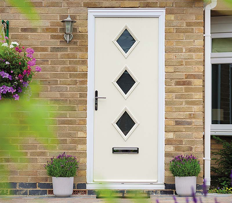 Door stop composite door