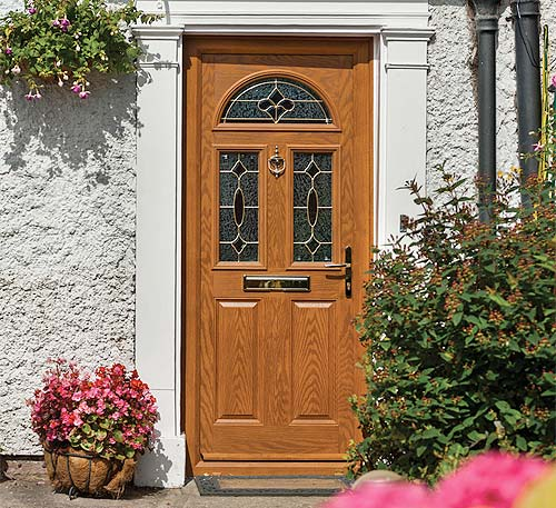 Door stop composite door title=
