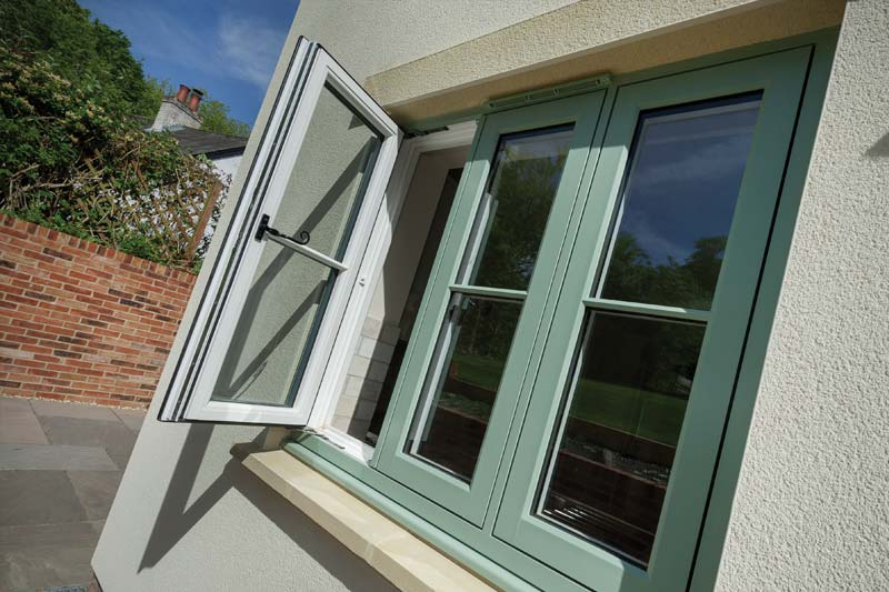 High performance timber alternative flush casement windows brighton