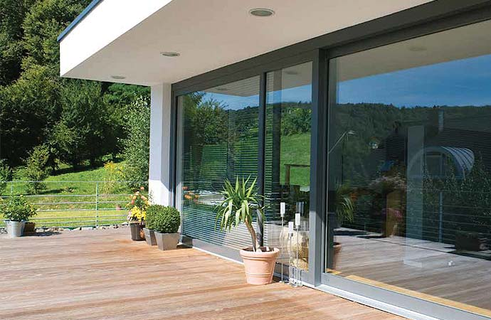 Large patio sliding door