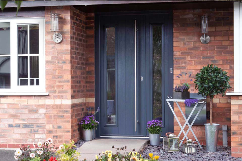 Solid timber core composite doors