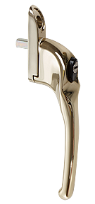 Traditional hardex gold cranked handle