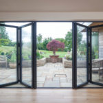 Aluminium bi folding door visofold 6000 1