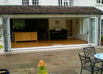 Aluminium bi folding doors shaws