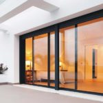 Black frame cor vision sliding door