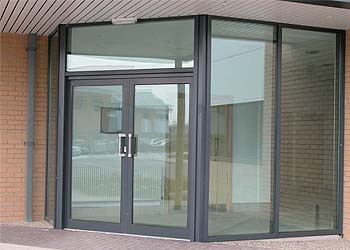 Commercial entrance doors shaws
