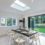 Multi folding doors dining room