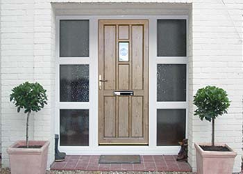 Timber alternative flush fitted doors timber alternative for Double glazed doors fitted