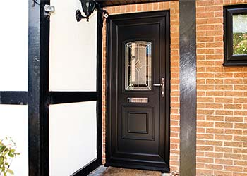 Upvc single front back doors shaws