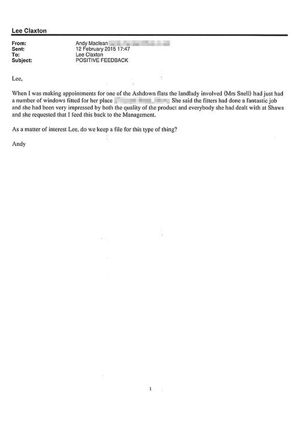 Andy maclean testimonial