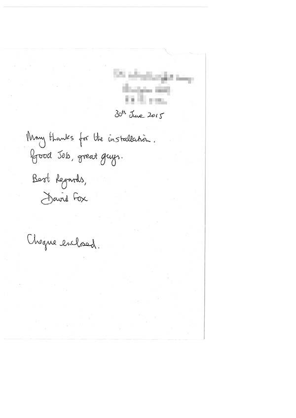 David fox testimonial
