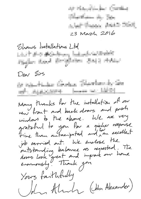 John alexander testimonial