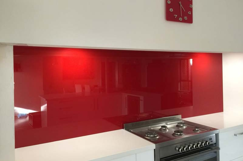 Red kitchen splashbacks brighton