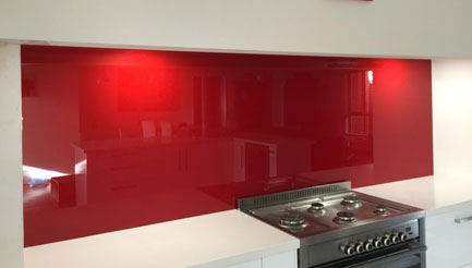 Shaws coloured kitchen splashbacks