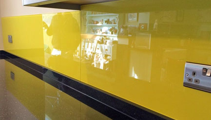 Yellow kitchen splashbacks brighton