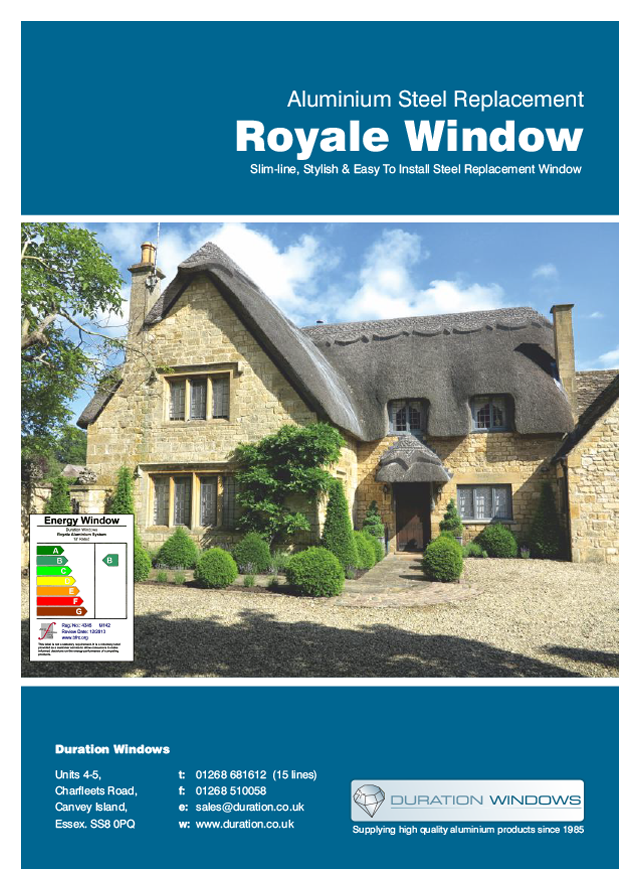 Royale steel replacement windows