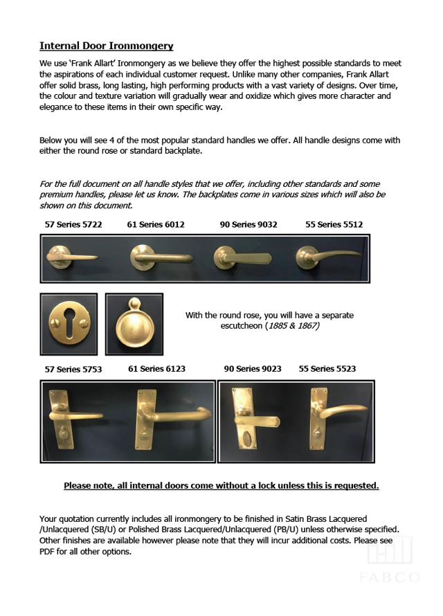 Internal door ironmongery 0