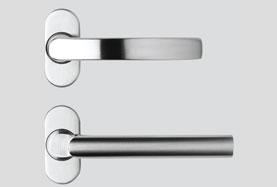 Flat round handles