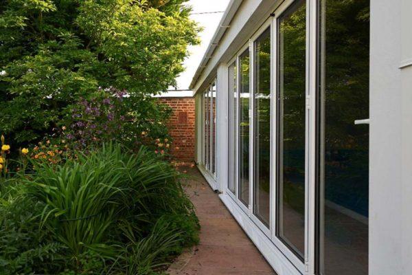 Shaws aluminium bi folding doors brighton
