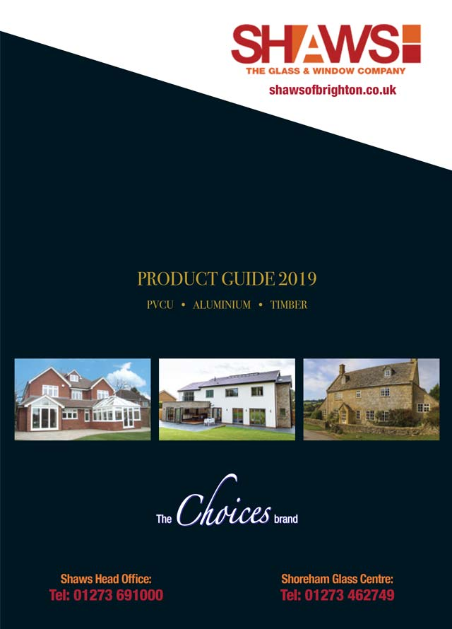 Shaws product guide 2019 cover