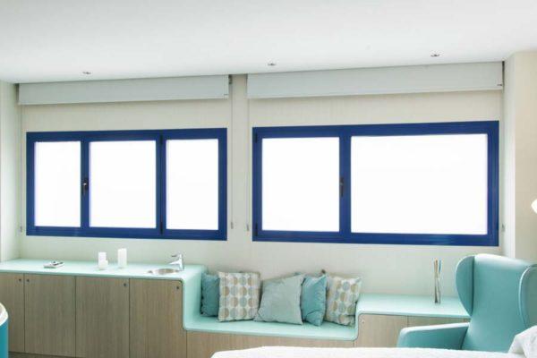 Cor 70 hidden sash system interior hospital windows